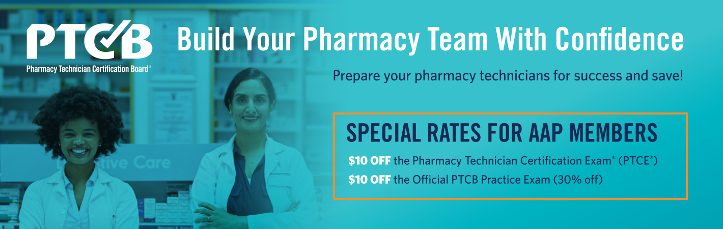 ptcb pharmacy certification exam rate special aap members technician ptce receive